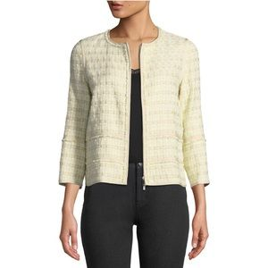 Lafayette 148 Aisha Cloud Tweed Blazer Jacket